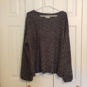 Style & Co Charcoal Bell Bottom Sleeved Sweater